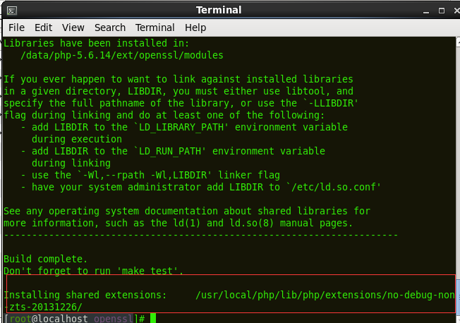 install openssl php extension centos 7