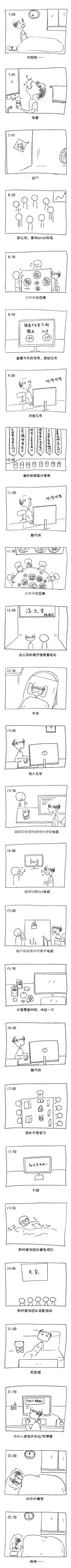 漫画:禅道程序员的一天